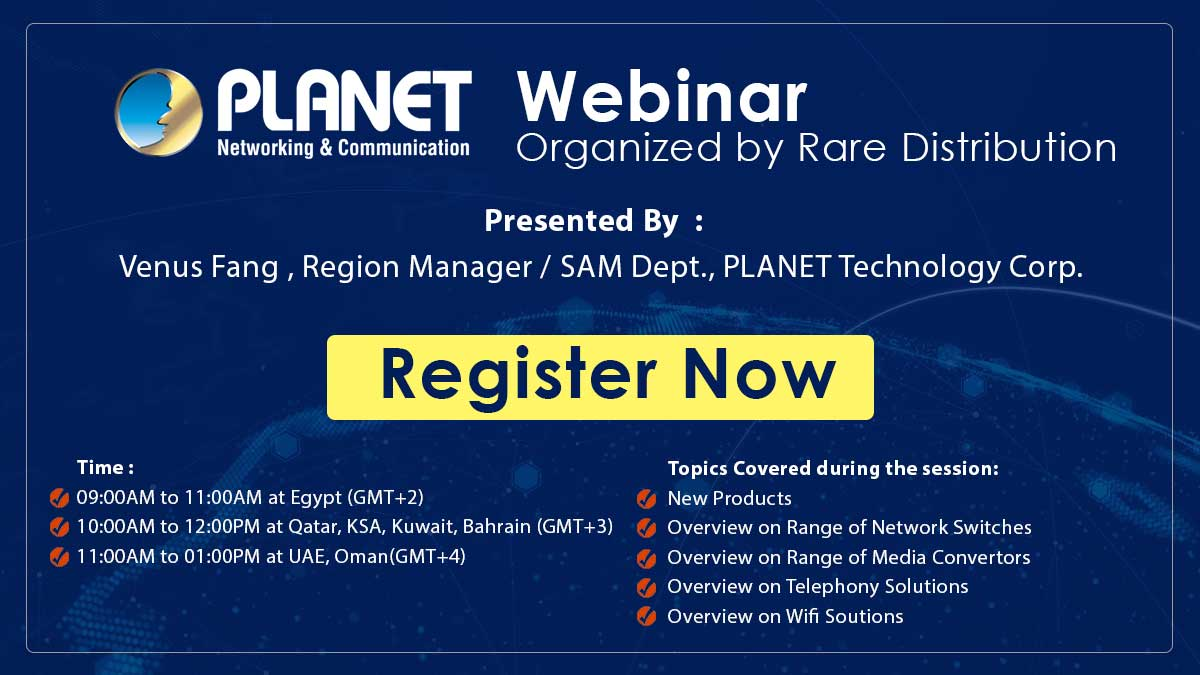 Planet Technology – Live Webinar Organised by Rare Distribution